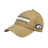Vegas Gold Twill Unstructured Low Profile Hat-Big West Mens Basketball Tournament Champions
