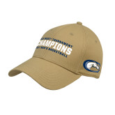 Vegas Gold Heavyweight Twill Pro Style Hat-Big West Mens Basketball Tournament Champions