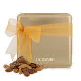 Deluxe Nut Medley Gold Medium Tin-UC DAVIS Engraved