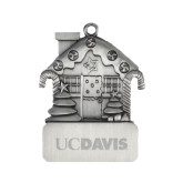 Pewter House Ornament-UC DAVIS Engraved