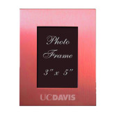 Pink Brushed Aluminum 3 x 5 Photo Frame-UC DAVIS Engraved