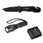 Swiss Force Knife/Flashlight Set-UC DAVIS Engraved