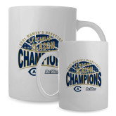 Full Color White Mug 15oz-UC Davis 2021 Womens Basketball 5X Regular Season Champions