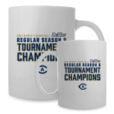 Full Color White Mug 15oz-UC Davis 2021 Womens Basketball Reg Season & Tournament Champs