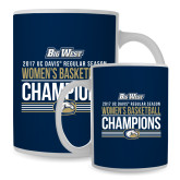 Full Color White Mug 15oz-Big West Conference 2017 Regular Season Womens Basketball Champions Stacked