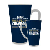 Full Color Latte Mug 17oz-Big West Conference 2017 Regular Season Womens Basketball Champions Stacked