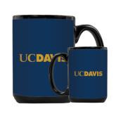 Full Color Black Mug 15oz-UC DAVIS