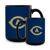 Full Color Black Mug 15oz-Secondary Athletics Mark