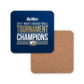 Hardboard Coaster w/Cork Backing-Big West Mens Basketball Tournament Champions