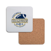 Hardboard Coaster w/Cork Backing-2018 Big Sky Conference Champions