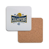 Hardboard Coaster w/Cork Backing-2018 Football Conference Champions