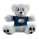 Plush Big Paw 8 1/2 inch White Bear w/Navy Shirt-Official Logo
