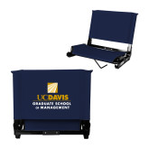 Stadium Chair Navy-Graduate School of Management Stacked