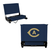Stadium Chair Navy-Secondary Athletics Mark
