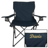 Deluxe Navy Captains Chair-Script Davis