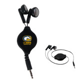 Black Retractable Ear Buds-Primary Mark