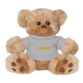 Plush Big Paw 8 1/2 inch Brown Bear w/Grey Shirt-UC DAVIS