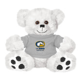 Plush Big Paw 8 1/2 inch White Bear w/Grey Shirt-Primary Mark