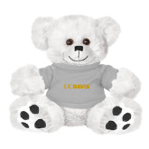 Plush Big Paw 8 1/2 inch White Bear w/Grey Shirt-UC DAVIS