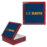 Red Mahogany Accessory Box With 6 x 6 Tile-UC DAVIS