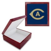 Red Mahogany Accessory Box With 6 x 6 Tile-Secondary Athletics Mark