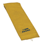 Gold Golf Towel-UC DAVIS Aggies