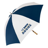 62 Inch Navy/White Umbrella-UC DAVIS Aggies