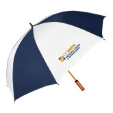 62 Inch Navy/White Vented Umbrella-Graduate School of Management Flat