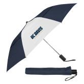 42 Inch Slim Stick Navy/White Vented Umbrella-Primary Athletics Mark