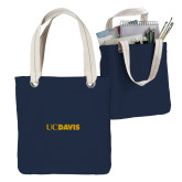 Allie Navy Canvas Tote-UC DAVIS