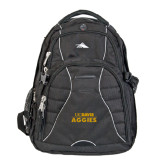 High Sierra Swerve Black Compu Backpack-UC DAVIS Aggies