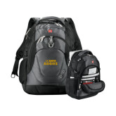 Wenger Swiss Army Tech Charcoal Compu Backpack-UC DAVIS Aggies