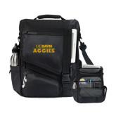 Momentum Black Computer Messenger Bag-UC DAVIS Aggies