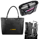 Sophia Checkpoint Friendly Black Compu Tote-UC DAVIS