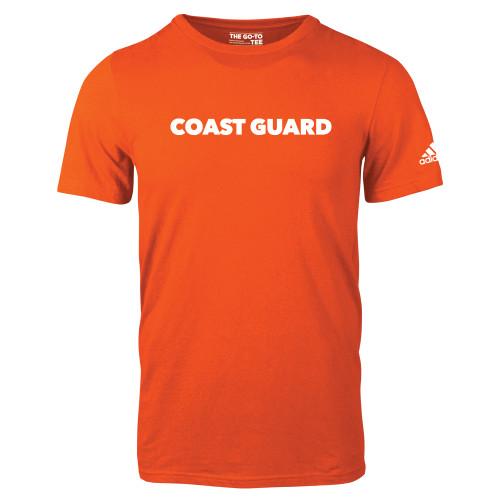 Adidas Orange Logo T Shirt Coast Guard