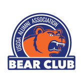 Small Decal-Bear Club, 6 inches wide