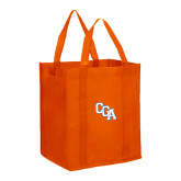 Non Woven Orange Grocery Tote-Secondary Logo