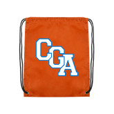Orange Drawstring Backpack-Secondary Logo