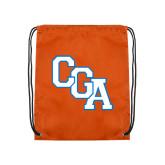 Orange Drawstring Backpack-Secondary Logo