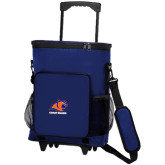 30 Can Blue Rolling Cooler Bag-Primary Logo