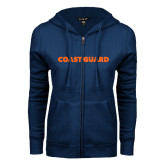 ENZA Ladies Navy Fleece Full Zip Hoodie-Coast Guard