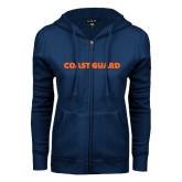 ENZA Ladies Navy Fleece Full Zip Hoodie-Coast Guard