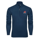 Syntrel Navy Interlock 1/4 Zip-Primary Logo