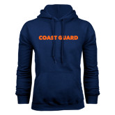 Navy Fleece Hoodie-Coast Guard