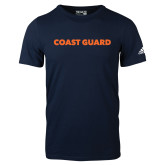 Adidas Navy Logo T Shirt-Coast Guard