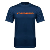 Performance Navy Tee-Coast Guard