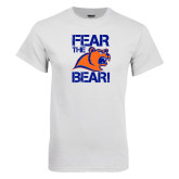 White T Shirt-Fear the Bear