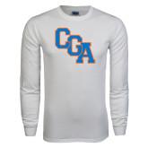 White Long Sleeve T Shirt-Secondary Logo