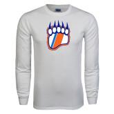 White Long Sleeve T Shirt-Tertiary Logo
