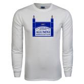 White Long Sleeve T Shirt-Coast Guard Academy Alumni Association